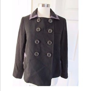 Cute Boden black double breasted wool blend coat